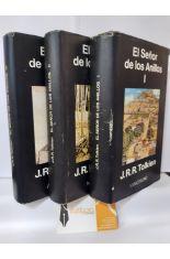 EL SEÑOR DE LOS ANILLLOS 3 TOMOS (LA COMUNIDAD DEL ANILLO - LAS DOS TORRES - EL RETORNO DEL REY)