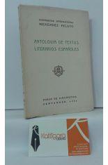 ANTOLOGÍA DE TEXTOS LITERARIOS ESPAÑOLES