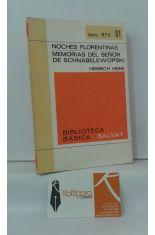 NOCHES FLORENTINAS - MEMORIAS DEL SEÑOR DE SCHNABELEWOPSKI