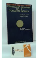 PROBLEMAS MENORES DE LA CONDUCTA INFANTIL. MODIFICACIÓN DE CONDUCTA EN LA INFANCIA 1