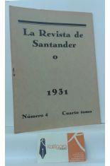 LA REVISTA DE SANTANDER 1931. NÚMERO 4. CUARTO TOMO