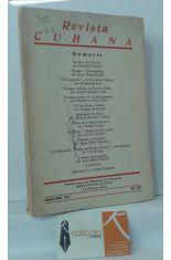REVISTA CUBANA. ENERO-JUNIO, 1950. VOL. XXVI