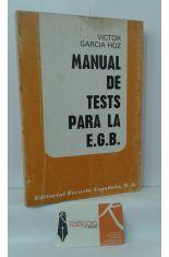 MANUAL DE TESTS PARA LA E.G.B.