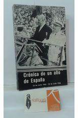 CRÓNICA DE UN AÑO EN ESPAÑA. (18 DE JULIO 1965 - 18 DE JULIO 1966)