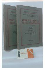 INSTITUTIONES IURIS CANONICI (2 TOMOS). 1, PARS PRAELIMINARIS NORMAE GENERALES DE PERSONIS. 2, DE REBUS DE PROCESSIBUS DE DELICTIS ET POENIS