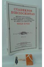 CUADERNOS DIECIOCHISTAS, AÑO 2004, VOL. 5. REVISTA CONSAGRADA AL ESTUDIO DE LA HISTORIA, PENSAMIENTO, LITERATURA, ARTE Y CIENCIA DEL SIGLO XVIII