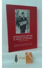 COMPOSICIONES POÉTICAS EN PAPELES VARIOS Y EN LA PRENSA DE CANTABRIA (ANTOLOGÍA DEL SIGLO XIX)