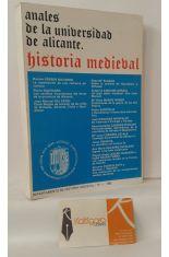 ANALES DE LA UNIVERSIDAD DE ALICANTE, HISTORIA MEDIEVAL