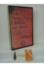 ANTOLOGÍA DE LA NUEVA POESÍA ESPAÑOLA
