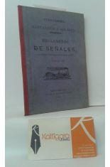 FERROCARRIL DE SANTANDER A SOLARES. REGLAMENTO DE SEÑALES, APROBADO POR REAL ORDEN DE 8 DE AGOSTO DE 1872