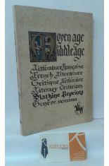 MOYEN AGE MIDDLEAGE. LITTÉRATURE FRANÇAISE, CRITIQUE LITTÉRAIRE/ FRENCH LITERATURE, LITERARY CRITICISM