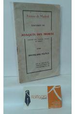 DISCURSO DE JOAQUÍN DEL MORAL, ABOGADO DEL ILUSTRE COLEGIO DE MADRID, SOBRE IMORALIDAD POLÍTICA EN LA SESIÓN EXTRAORDINARIA DE 5 DE OCTUBRE DE 1931