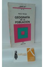 GEOGRAFÍA DE LA POBLACIÓN