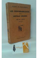 LAS RESPONSABILIDADES DEL ANTIGUO RÉGIMEN 1875-1923
