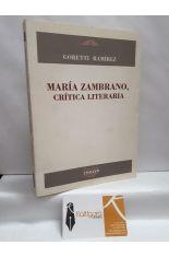 MARÍA ZAMBRANO, CRÍTICA LITERARIA