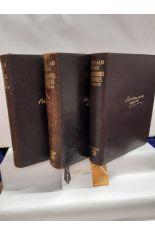 VIDA DE LOS NAVEGANTES, CONQUISTADORES Y COLONIZADORES ESPAÑOLES DE LOS SIGLOS XVI, XVII Y XVIII (3 TOMOS)