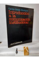 INTRODUCCIÓN A LA COMUNICACIÓN INSTITUCIONAL