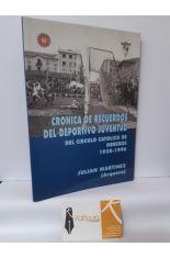 CRÓNICA DE RECUERDOS DEL DEPORTIVO JUVENTUD DEL CÍRCULO CATÓLICO DE OBREROS. BURGOS, 1928-1996