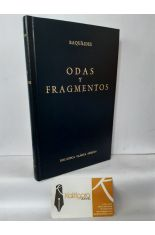 ODAS Y FRAGMENTOS. BIBLIOTECA CLÁSICA GREDOS 111