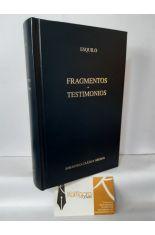 FRAGMENTOS - TESTIMONIOS. BIBLIOTECA CLÁSICA GREDOS 369
