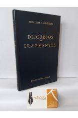 DISCURSOS Y FRAGMENTOS. BIBLIOTECA CLÁSICA GREDOS 154
