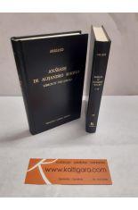 ANÁBASIS DE ALEJANDRO MAGNO. LIBROS I-III Y IV-VIII (2 TOMOS) BIBLIOTECA CLÁSICA GREDOS 49 Y 50