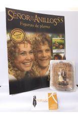 SAM Y ROSITA EN HOBBITON (REVISTA + FIGURA DE PLOMO) EL SEÑOR DE LOS ANILLOS 55